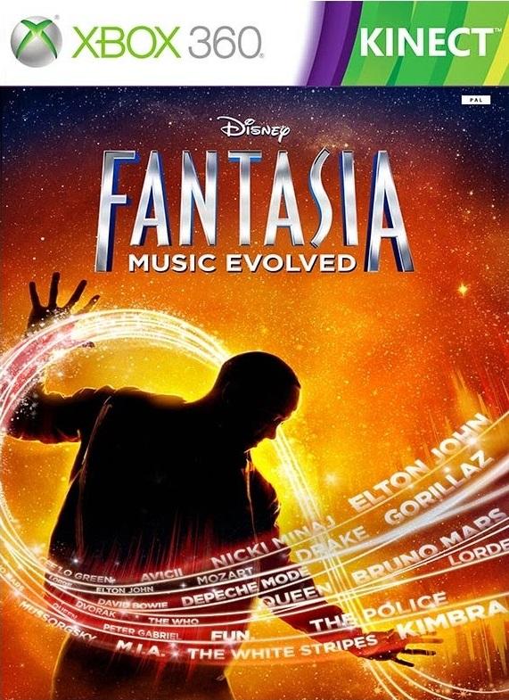 Xbox 360 Disney Fantasia Music Evolved