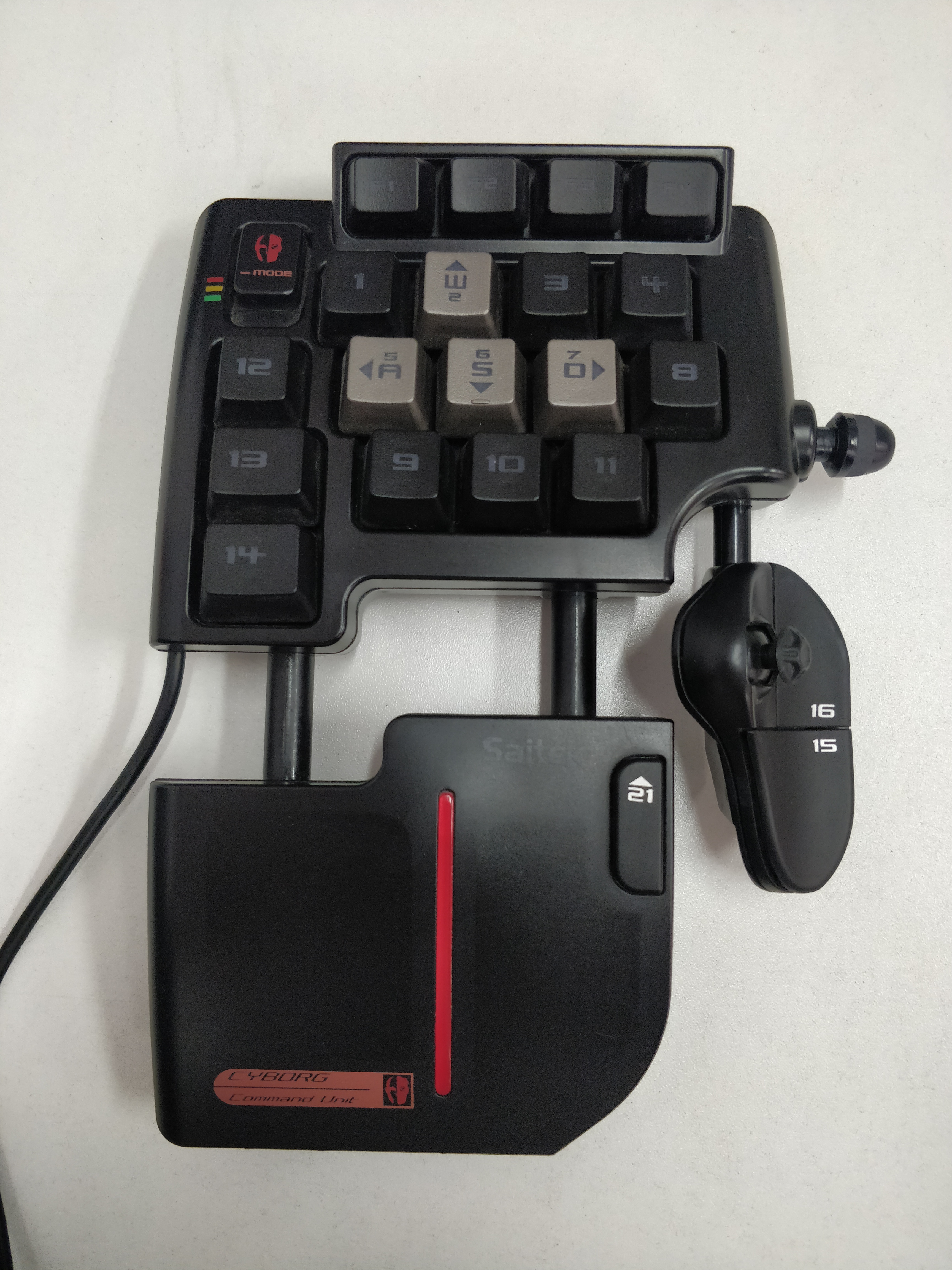 [PC] USB klávesnice Saitek Cyborg Command Unit (estetická vada)