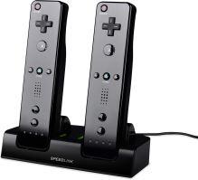 [Nintendo Wii] Nabíjecí stanice Speedlink JAZZ - černá + 2 akumulátory