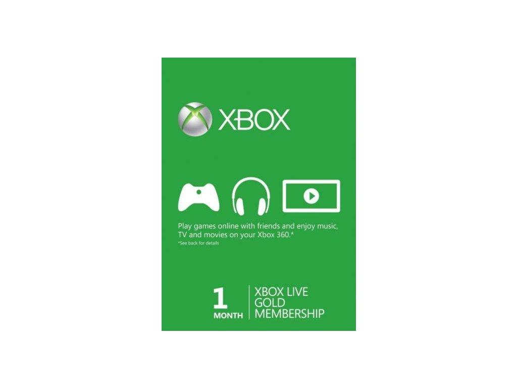 Xbox Live Gold Na 1 měsíc - Hmotný poukaz