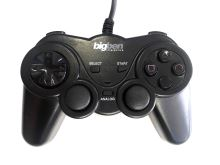 [PS2] Drátový Ovladač Bigben černý (estetická vada)