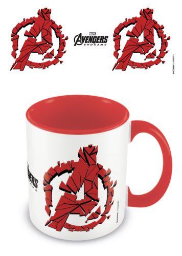Hrnek Avengers: Endgame Red Shattered Logo (nový)