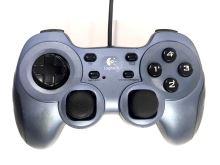 [PC] Drátový Ovladač Logitech Rumblepad 2 - modročerný (estetická vada)