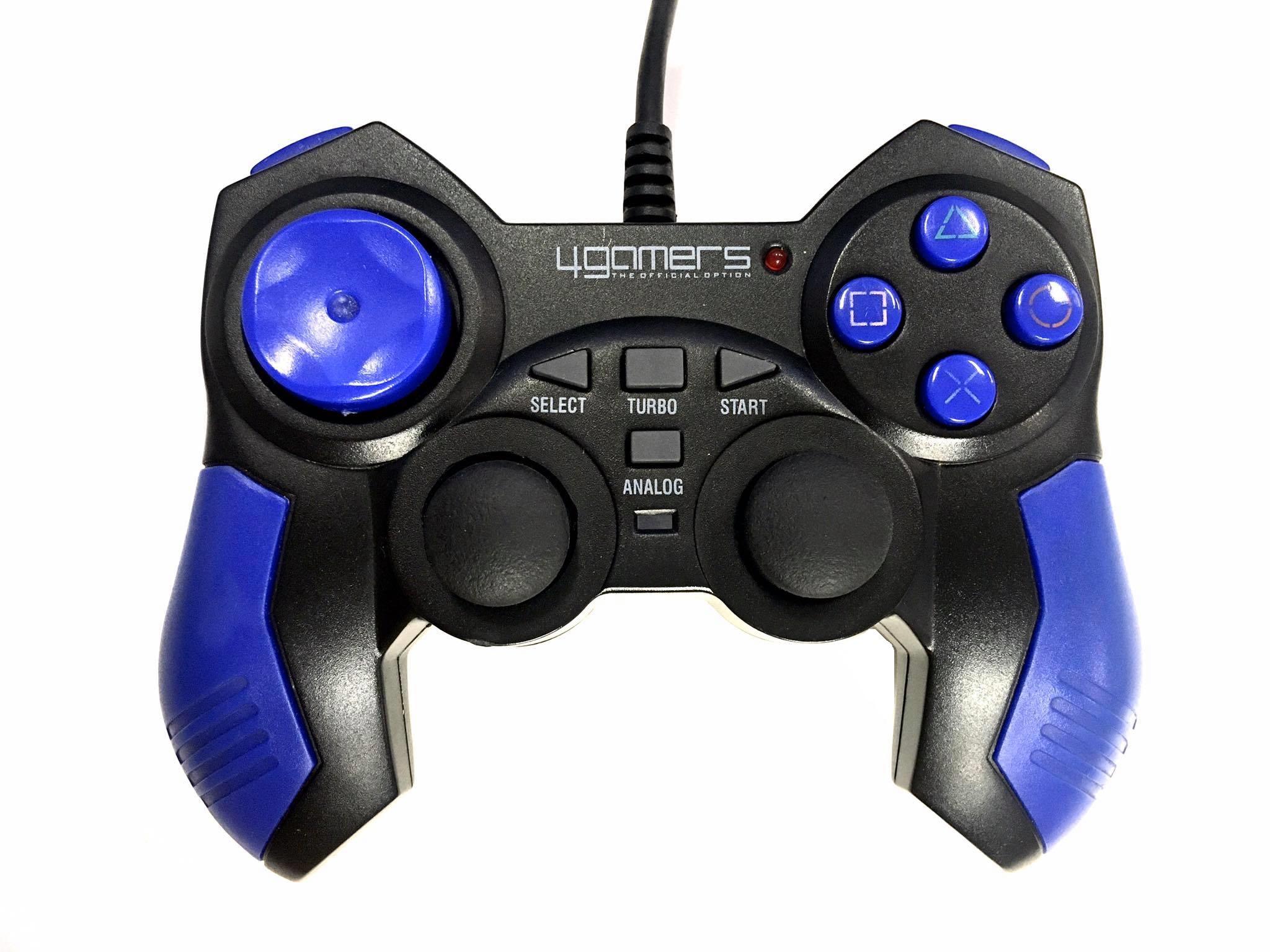 [PS2] Drátový Ovladač 4Gamers - černý (estetická vada)