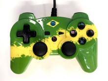 [PS3] Drátový Ovladač Bigben - Brazil Flag (estetická vada)