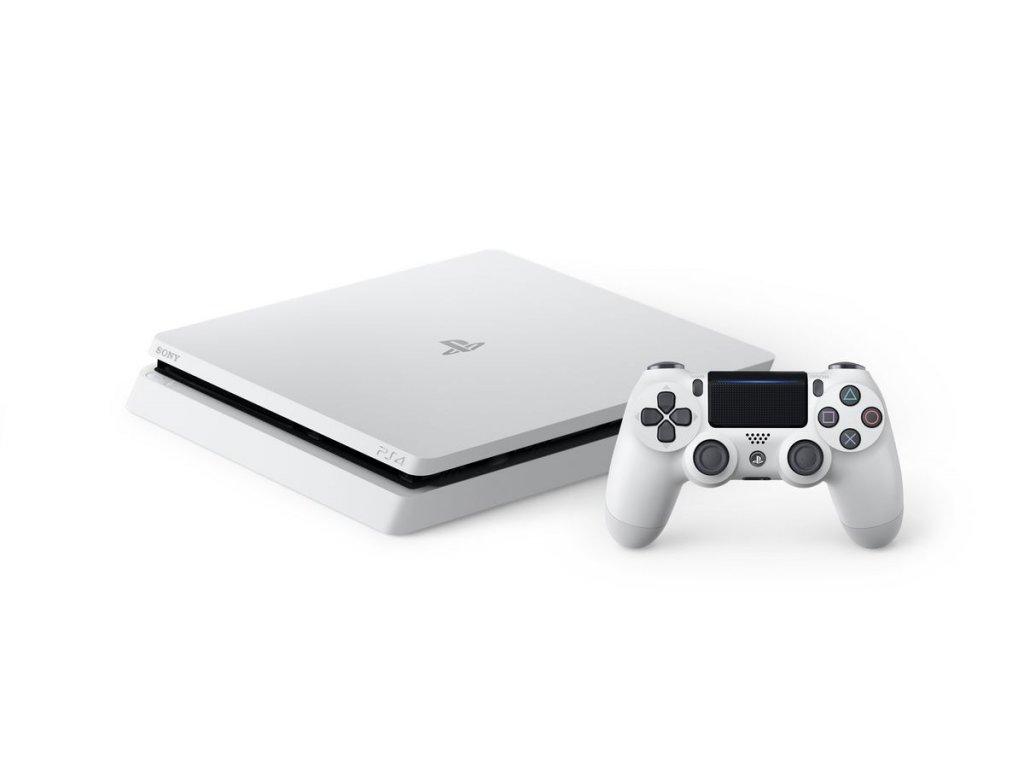 PlayStation 4 Slim 500 GB - Bílá Edice