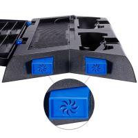 [PS4] Chladící stojan s nabíječkou Zacro (černý) (estetická vada)