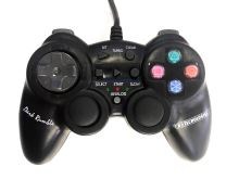 [PS2] Drátový Ovladač X-Technologies - černý (estetická vada)