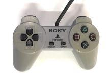 [PS1] Drátový Ovladač Sony Bez Páček - šedý (nažloutlý) (různé estetické vady)