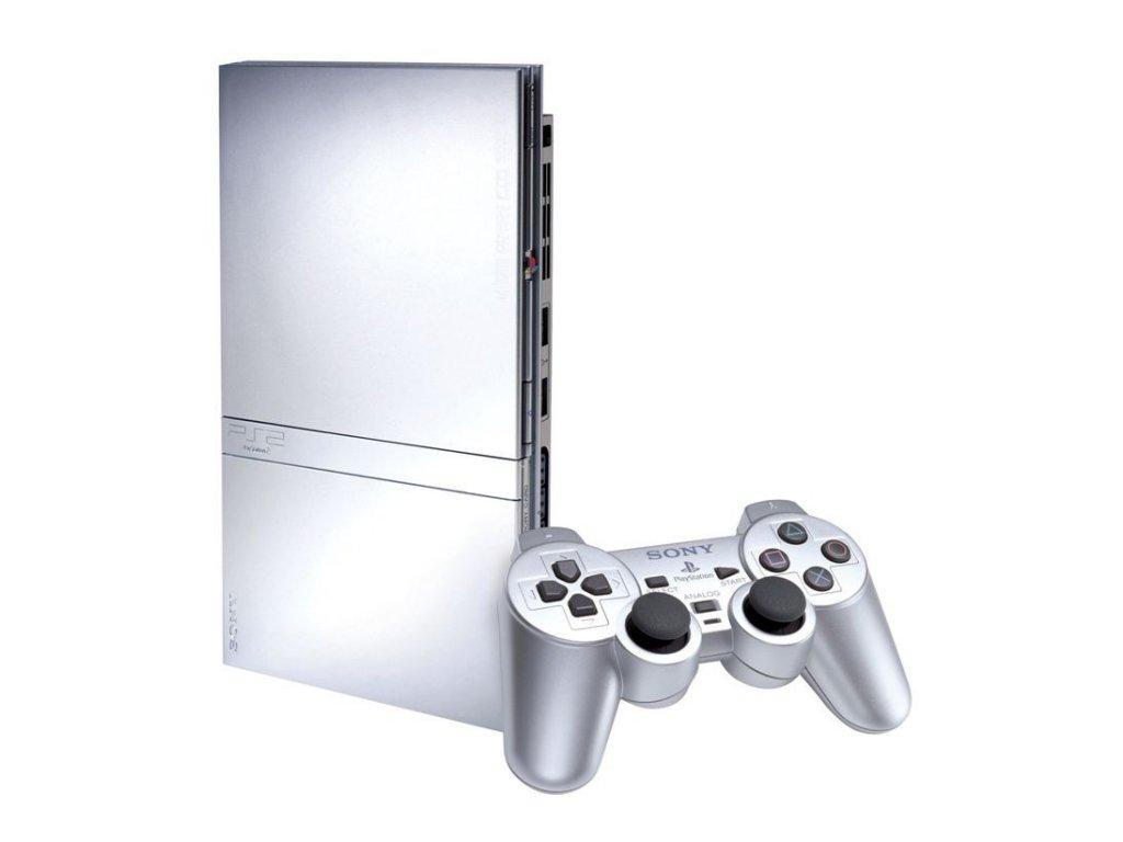 PlayStation 2 Slim Stříbrný (A)