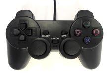 [PS2] Drátový Ovladač - černý (různé estetické vady)