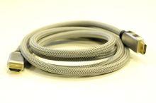 HDMI kabel 2m pozlacený, odolný (stříbrný)