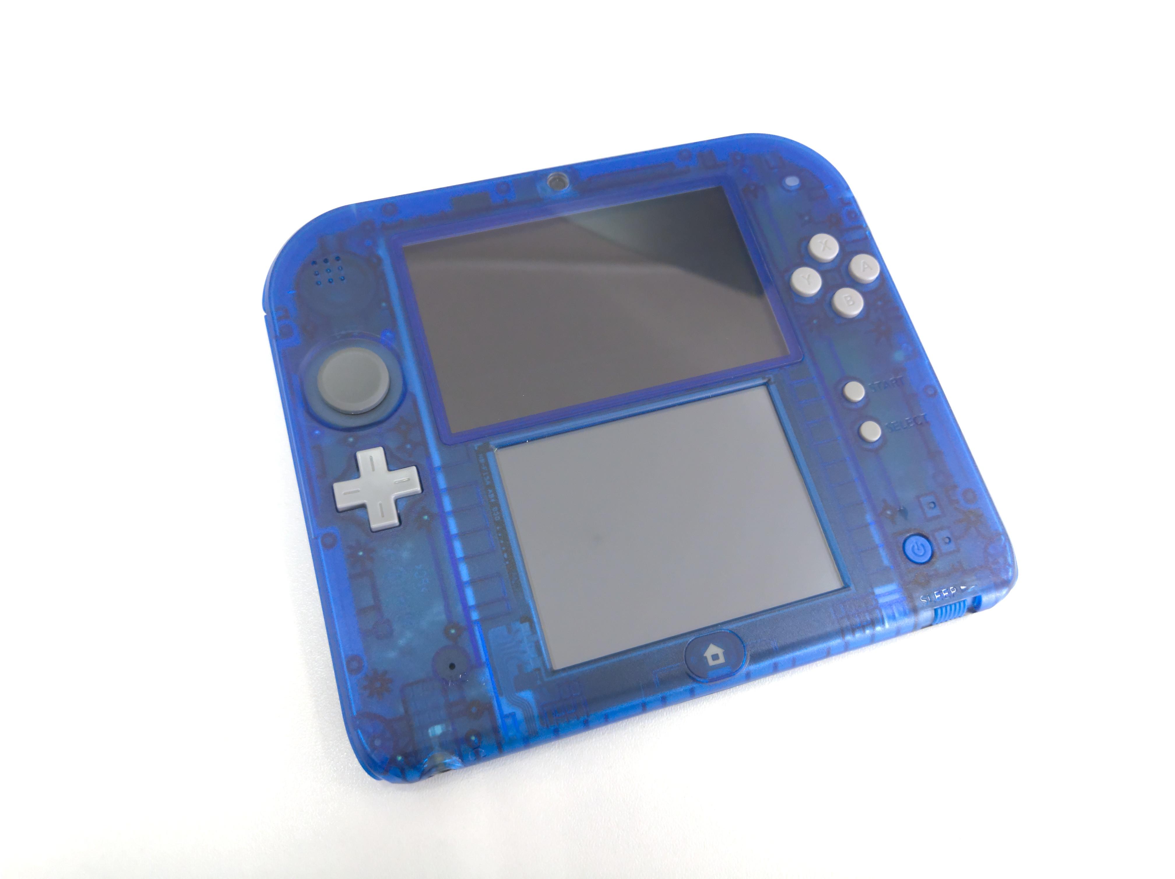 Nintendo 2DS modré průhledné (estetická vada)